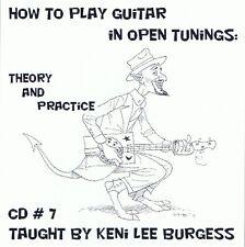 Open Tuning Music Theory / Practice CD 7 video guitar tutorial keni lee