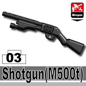 M500T (W136) Black Tactical 12 Gauge Shotgun compatible w/toy brick minifigures