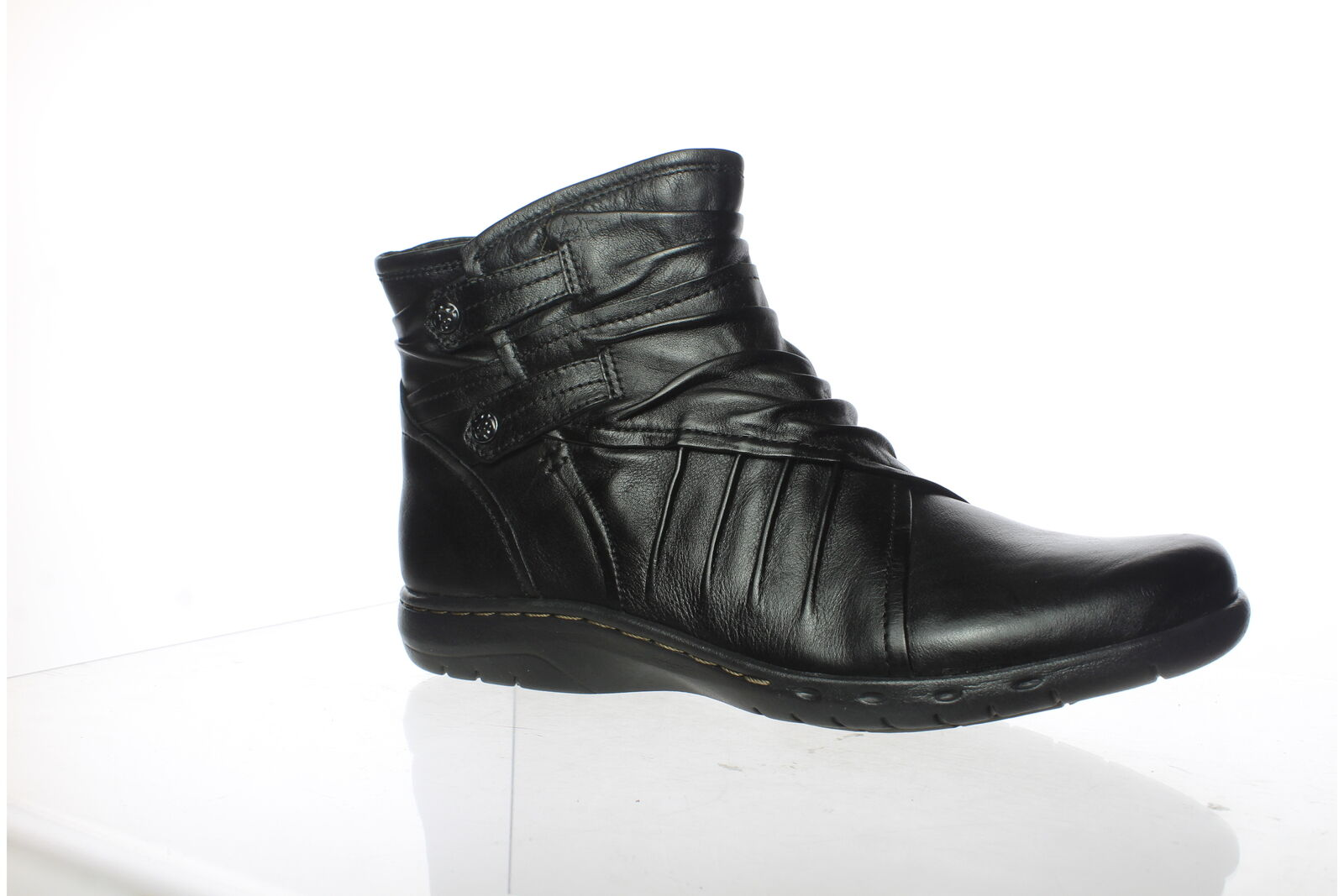 Cobb Hill Womens Pandora Black Ankle Boots Size 8.5 (Narrow) (1467572)