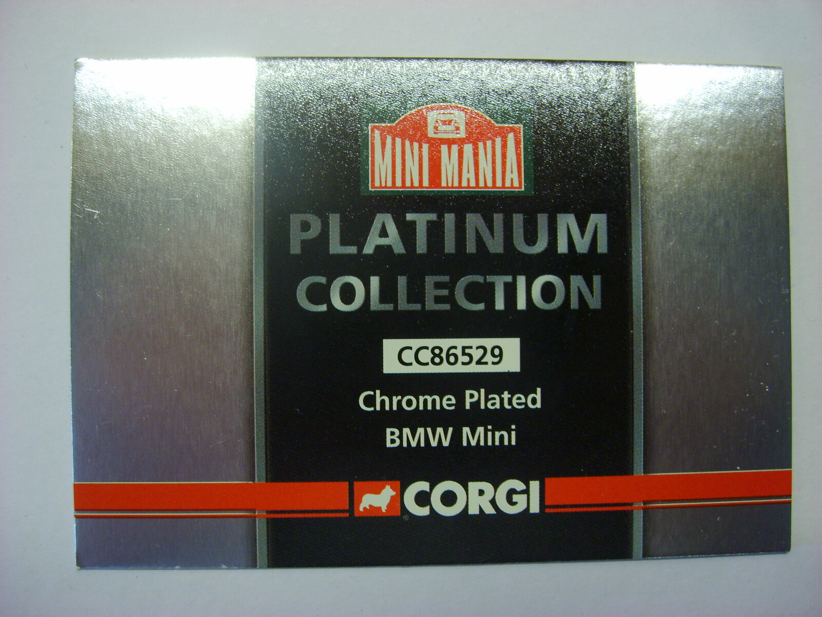 CORGI - CC86529 - BMW MINI  IN CHROME CHROME CHROME   PLATINUM COLL   1 36 SCALE    M.I .B. 74444e