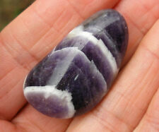 1 x CHEVRON AMETHYST CRYSTAL XL POLISHED TUMBLE STONE 30mm - 35mm  BAG & ID CARD