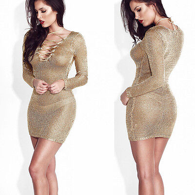 Sexy Women Summer V-neck Bandage Bodycon Evening Party Cocktail Club Mini Dress
