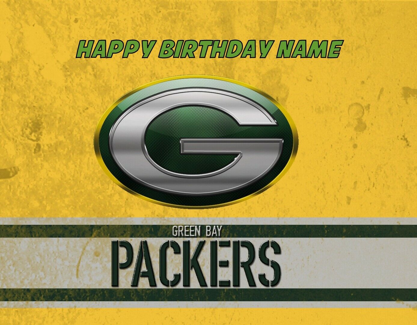Nfl Green Bay Packers Edible Cake Image Topper By A Birthday Place For Sale Online Ebay