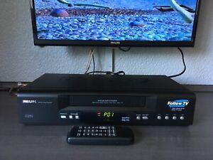 TOP-Philips-Hifi-VHS-Videorecorder-VR742-Nicam-mit-Fernbedienung