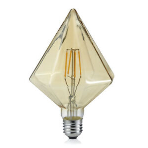 Trio-Leuchten-901-479-LED-Vintage-Filament-E27-4W-braun-Kegel-Warmweiss-2700K