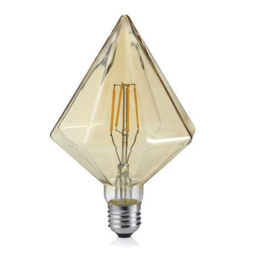 Trio feux 901-479 DEL vintage filament e27 4 W marron Cône blanc chaud 2700k