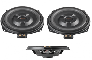 Match underseat subwoofers to fit BMW 5 Series F10 F11 1 pair 150w RMS