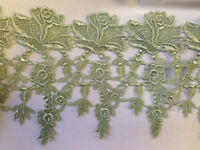 "2 Yards, Rose Venise Lace Trim, Beautiful Rose with Mini Flowers, 5"" Inches"