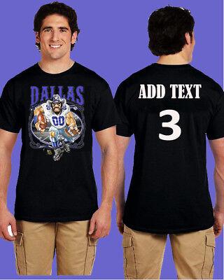 5XL Dallas Cowboys Punisher Skull Shirt Add Custom Text Gildan Black S