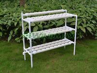 Gardening Hydroponic Grow System Vegetable Garden Pvc Gully Kits Set04