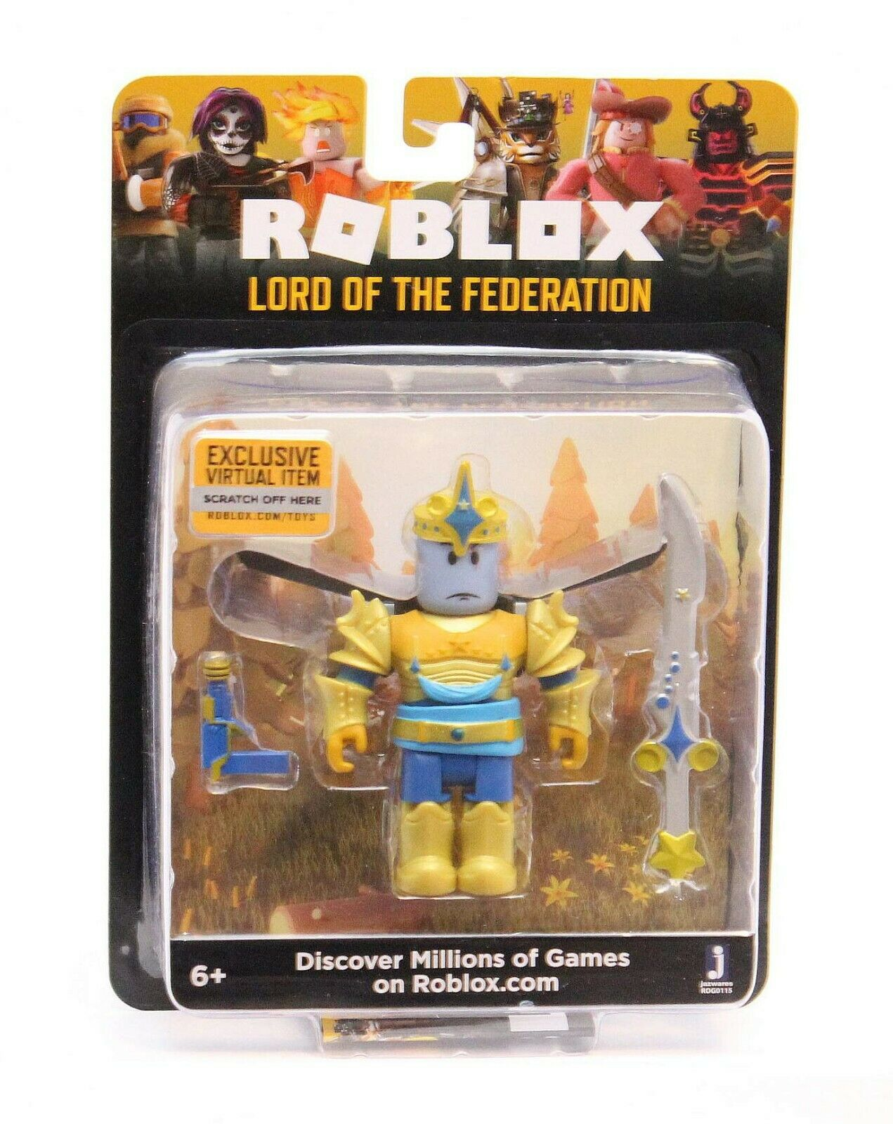 2019 Roblox Figure Lord Of The Federation W Exclusive Item