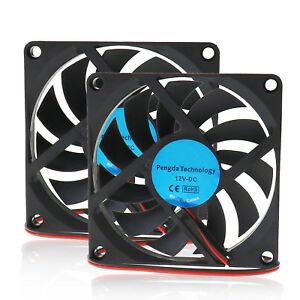 2X-80mm-12V-2Pin-DC-Brushless-Cooling-Fan-Supply-For-Computer-PC-Laptop-Cooling