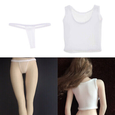 Slim Vest for 12Inch Action Figure Hot Toys 1//6 Scale Red T-back Underwear