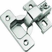 (20) 3/8 Overlay Short Arm Face Frame Cabinet Hinge, Zinc Die Cast Plate