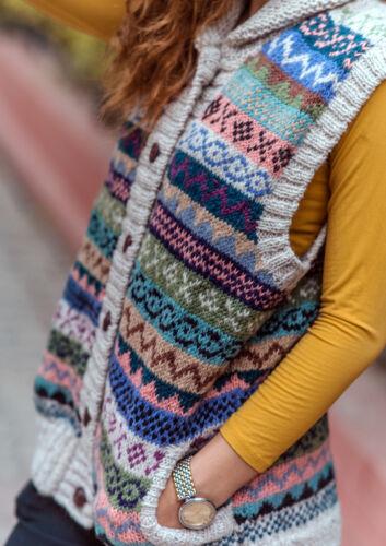 multicolore bleu pour Cardigan femmes vert en laine et mélangé qnww8ROX