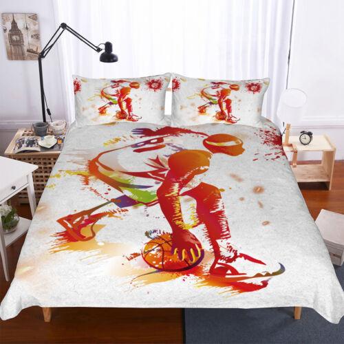 3D Basketball Sports Player Bedding Duvet Cover Quilt//Comforter Cover Pillowcase
