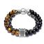 miniature 45 - 7 Chakra Healing Tiger Eye Natural Stone Yoga Energy Beads Bracelet Jewelry Hot