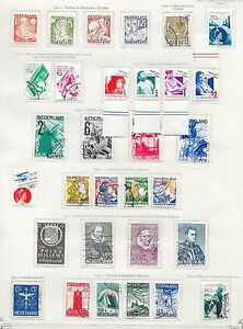 Netherlands stamps 1930 Collection of 31 stamps CAT VALUE $400