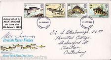1983 River Fishes - RM - Canterbury FDI - Signed ALEX JARDINE (Stamp Designer)