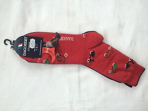 Chaussettes-Reversibles-Dagobert-a-l-039-envers-Modele-Scooter-39-42-Rouge-Violet