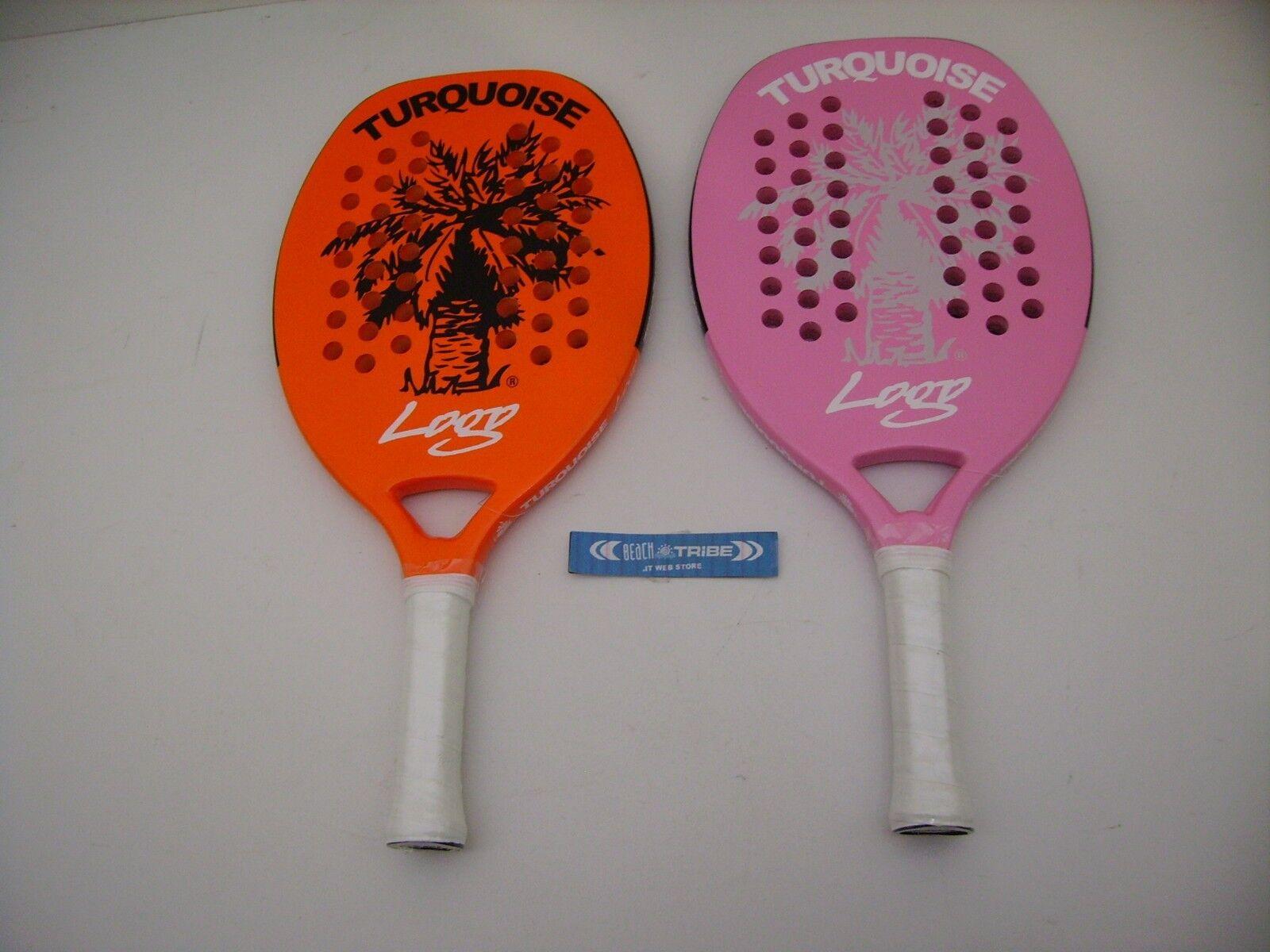 Tennis racquet pair plage turquoise Orange logo and logo rose 2017