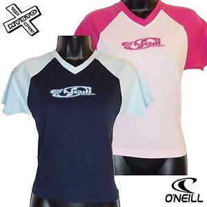 O-039-Neill-Board-GIRLIES-039-basique-raglan-039-fille-t-shirt-bleu-rose-age-14-ans-16-18
