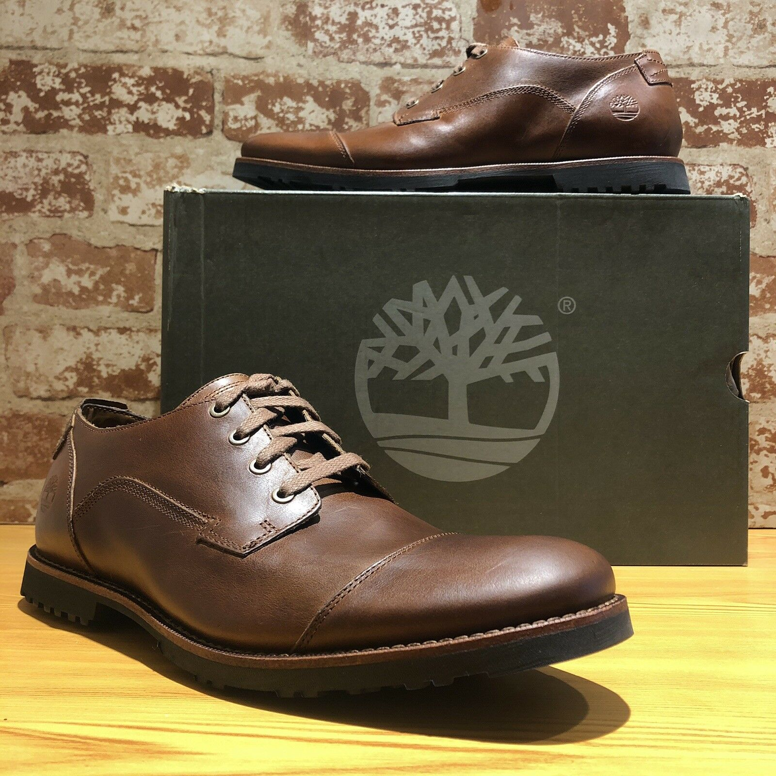 255c77bfab0 Timberland Tb0a1ndi919 Kendrick Tan Harness Men's Oxford Shoes Size 9 US