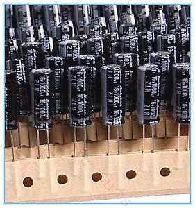 10PCS-1000UF-16V-RUBYCON-RADIAL-ELECTROLYTIC-CAPACITORS-8X20MM-ZLH-16v1000uf