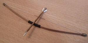 1/12 dolls house miniature Handmade Bow & Arrow Set Hunting Tudor medieval  LGW