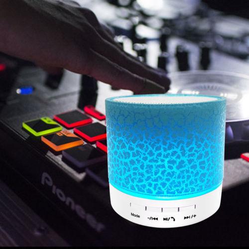 Luminous Lamp Rechargeable Wireless Bluetooth Speaker Portable Mini Super Bass @