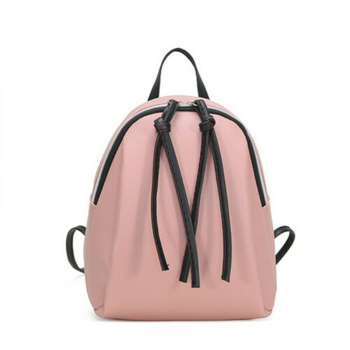 Fashion Women Girl Small Backpack Travel Black Nylon Handbag Shoulder Bag Gift