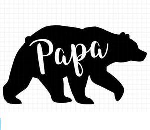 bear funny vinyl decal car bumper sticker 149