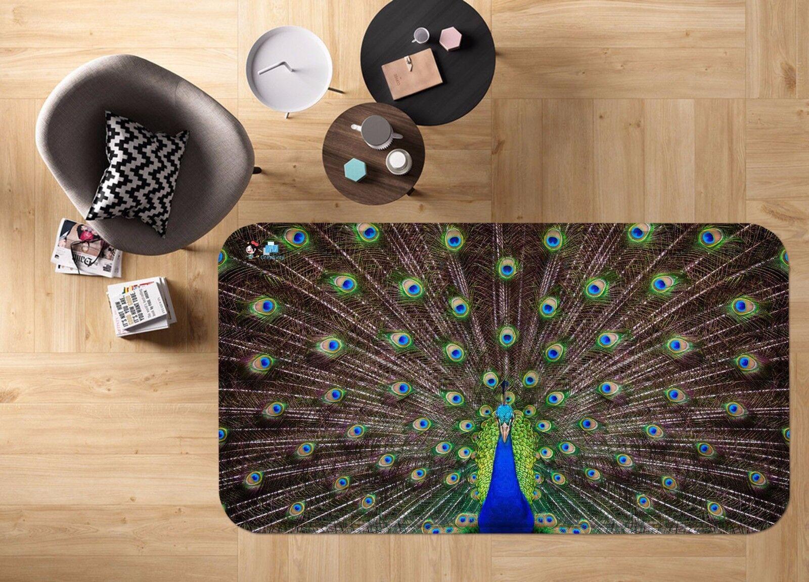 3d animal pavo real 41 antideslizante alfombra de maletero calidad elegante alfombra de
