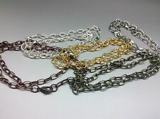 10 x chain charm bracelets Copper, Bronze, Silver, Gold, Platinum Mixed 8 inch