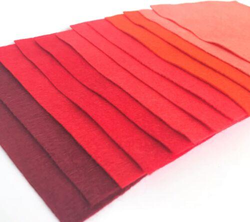 Wool Blend Felt Colour Collections Great Value Craft Felt 12 sheets of felt