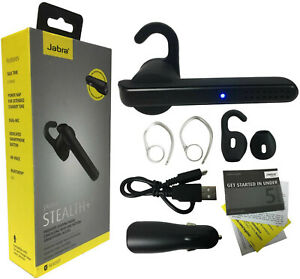 Details about Jabra Stealth+ Wireless Headset Dual Mic Noise Cancelling &  Dual Car Charger