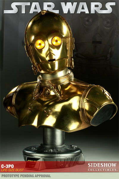SIDESHOW COLLECTIBLES C-3PO busto de tamaño de vida