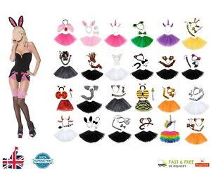 COW TUTU Kids Ladies Fancy Dress Costume Halloween Ears Tail Instant Animal