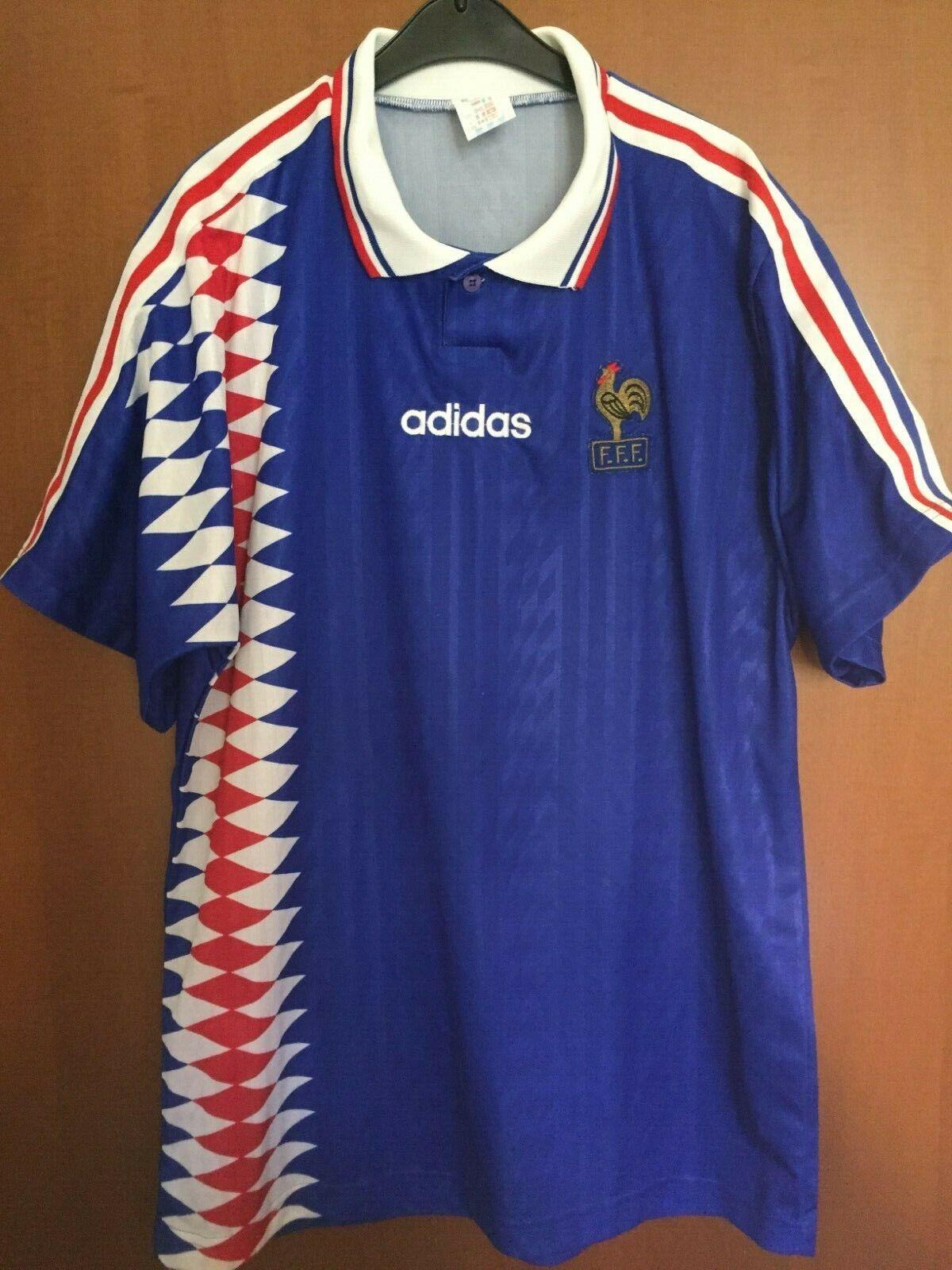 Maglia Shirt Maillot Trikot Camiseta France Francia 94 Adidas Vintage