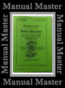 Singer industrielle 196K machine à coudre manuel d/'instruction booklet