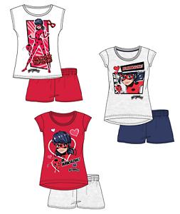 Pyjama-court-MIRACULOUS-LADYBUG-t-shirt-et-short-NEUF-4-10-ans-enfant-fille