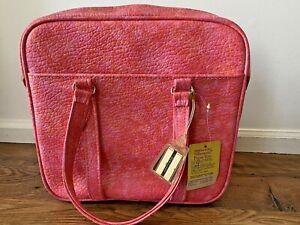 RARE Vintage Samsonite Silhouette Tote Travel Bag Pink Orange NEW w/Tag Carry-On