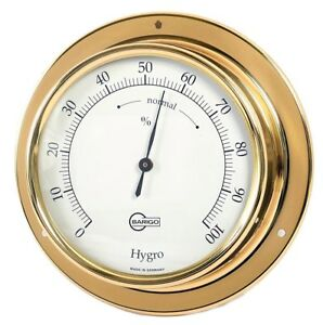 Kabinenaustatt<wbr/>ung Hygrometer Barigo Tempo messing