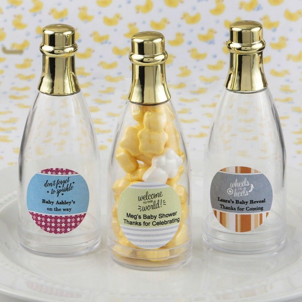 100 Personalized Champagne Bottle Boxes Baby Shower Christening Party Favors
