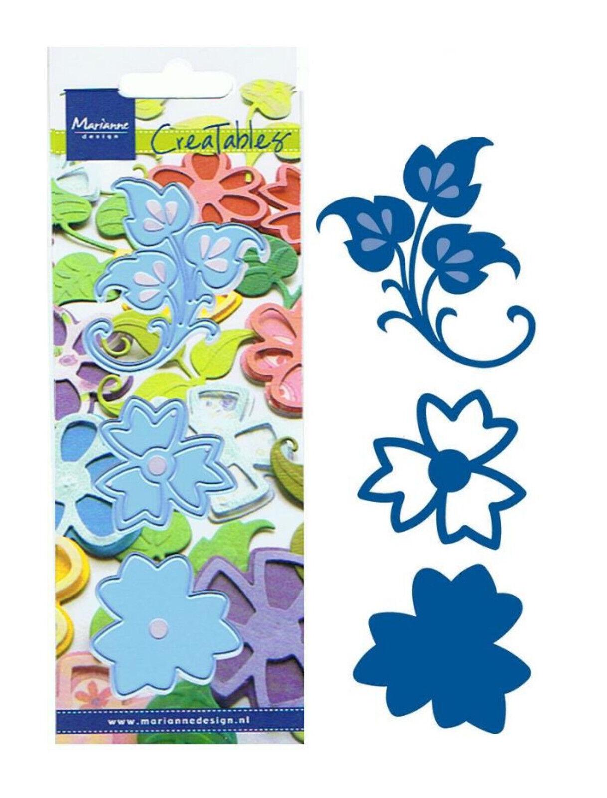 Präge Stanzschablone Blumen 3D-Blüten Marianne Design Creatables