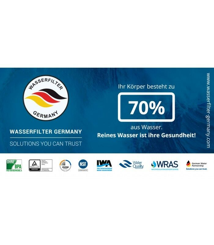 Mobile Umkehrosmose Anlage Wasserfilter Germany Membran 75 75 75 GPD NSF RO Aquaristik 7e0c7d
