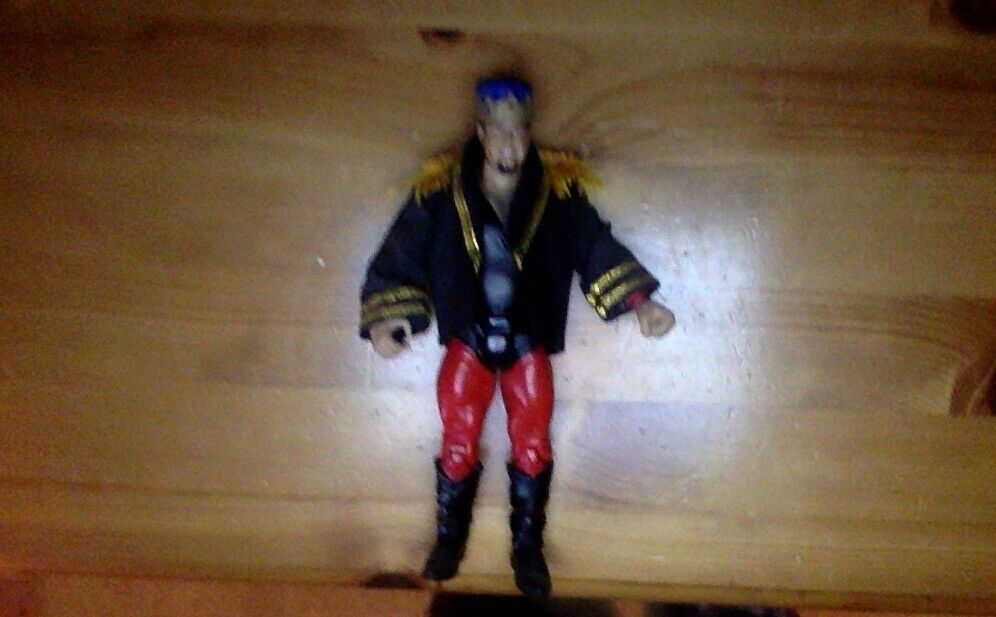 WWE Jakks Classic súperEstrellas figura Jerry Lawler con Corona del Rey Abrigo Personalizado