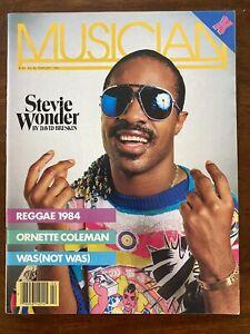 Vintage Musician Magazine - Feb 1984 - Stevie Wonder • X • Reggae