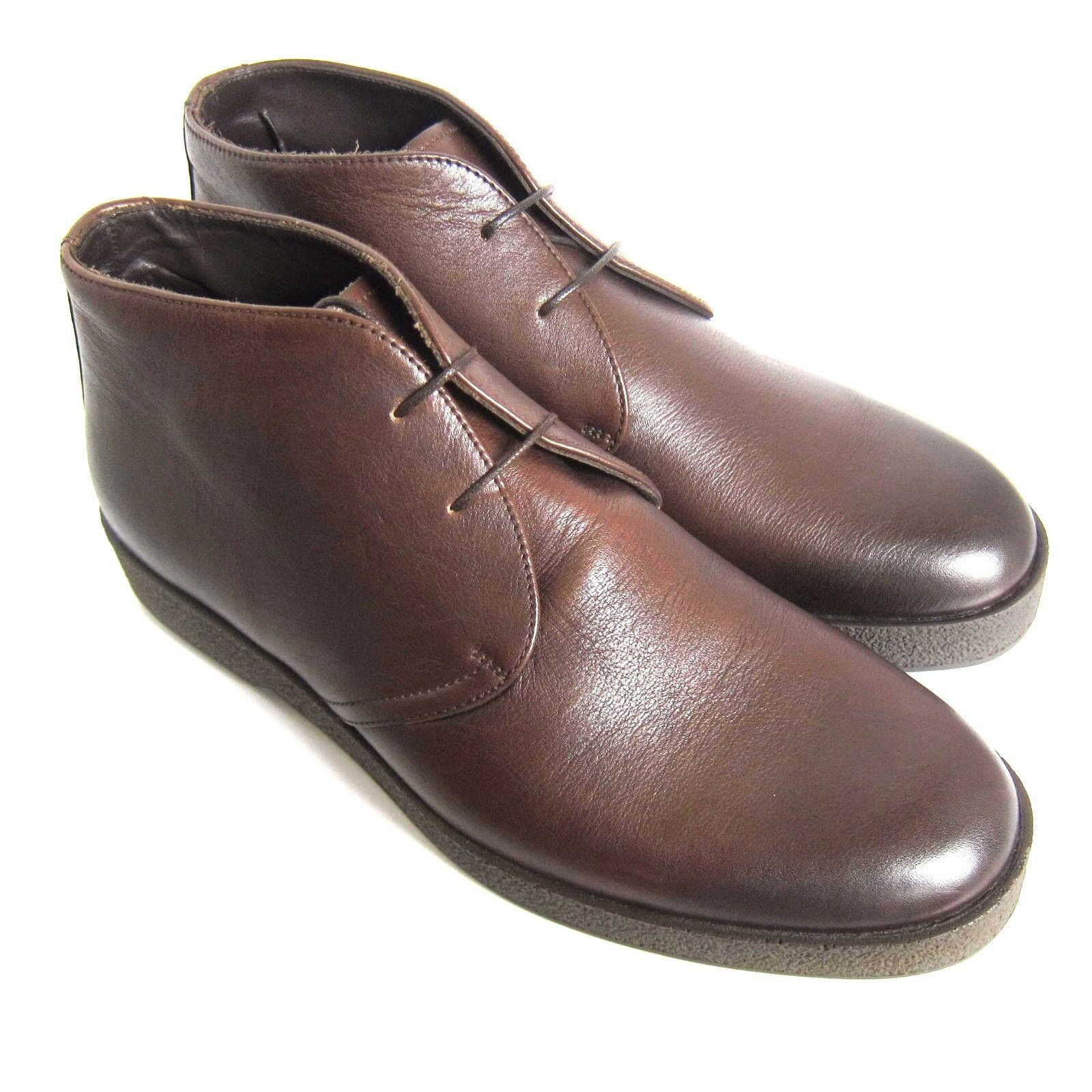 C-1358125 Neu Ermenegildo Zegna Leder Stiefeletten Schuhe Größe US 9D Marked 8EE