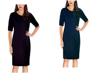 NEW-Mario-Serrani-Ladies-039-Knit-Dress-Elbow-length-sleeve-Variety